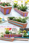 Great DIY showing painting plastic flower pots. Great ideas for our planters and to add color and personality to our yard with fun crafts! #DIY #Pots #Yard #Paint #Crafts #RealCoake