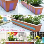Painting Plastic Flower Pots ~ Add Personality and Fun to your Outdoor Space