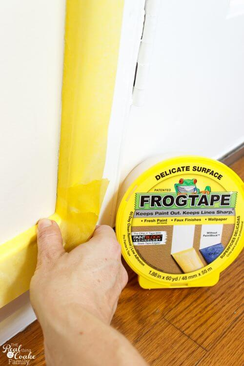 picture of applying delicate surface frog tape