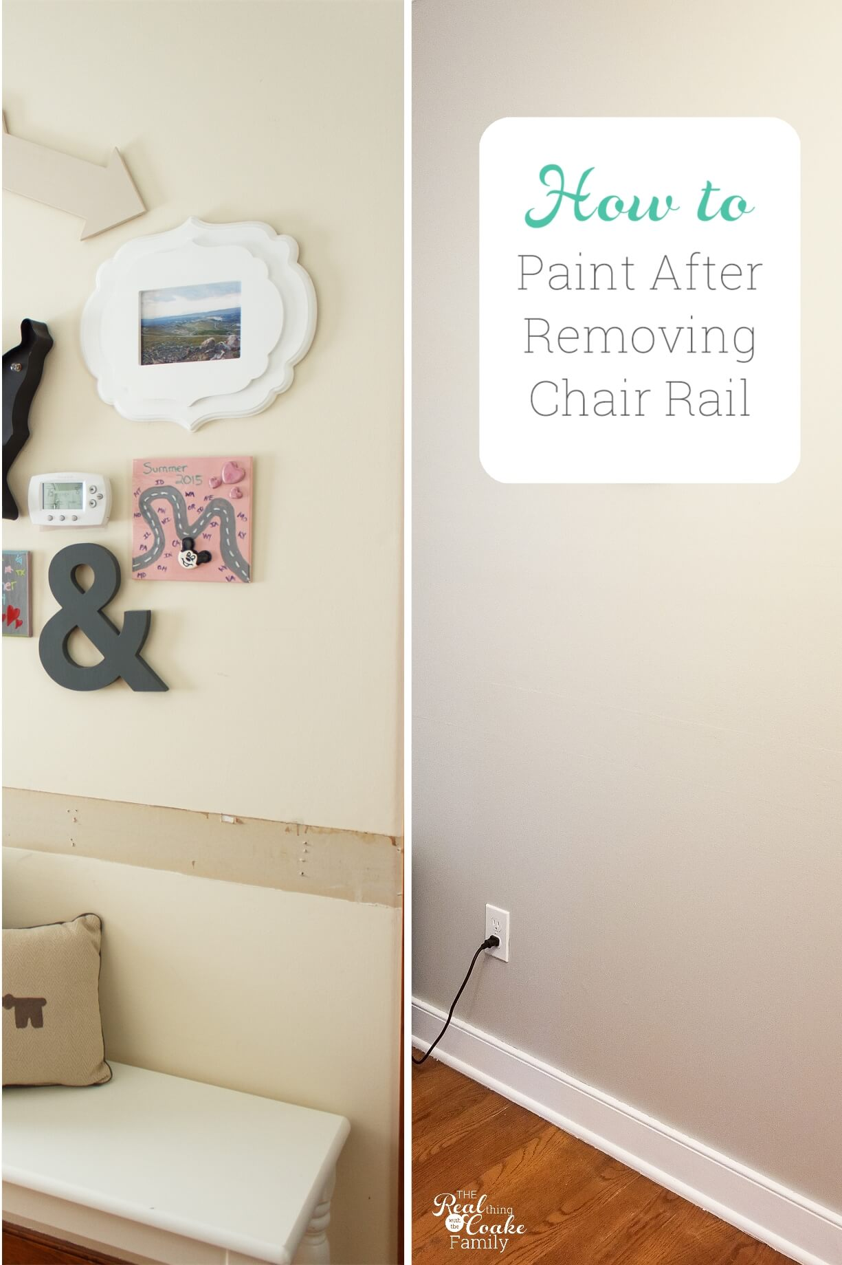 How To Paint After Removing Chair Rail The Real Thing With Coake Family