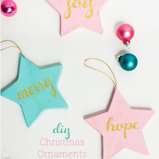 Craft Happiness with Pink and Blue DIY Christmas Ornaments