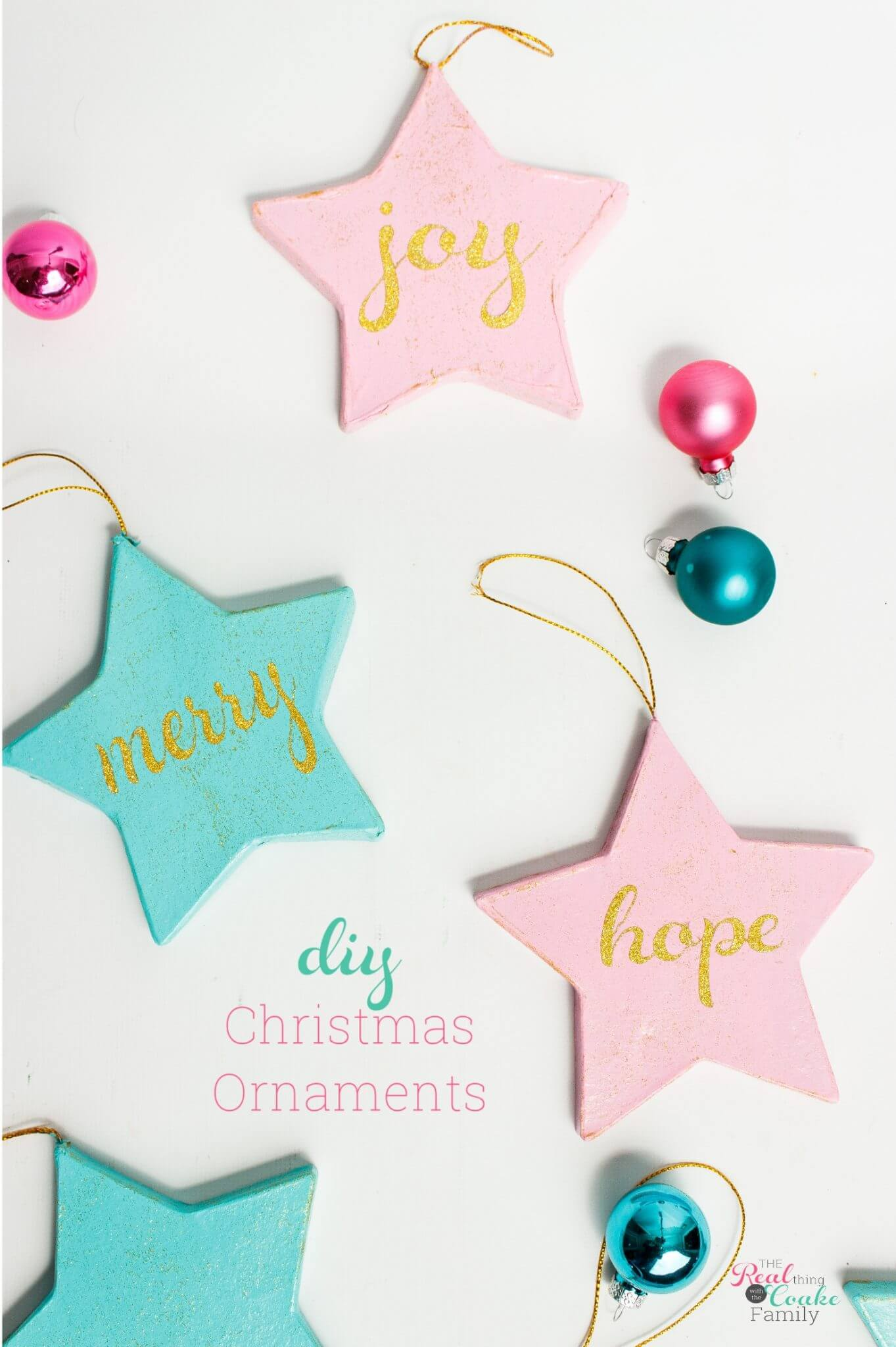 Pink Christmas Ornaments.Craft Happiness With Pink And Blue Diy Christmas Ornaments