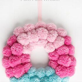 How to Make a Fun Pom Pom Wreath