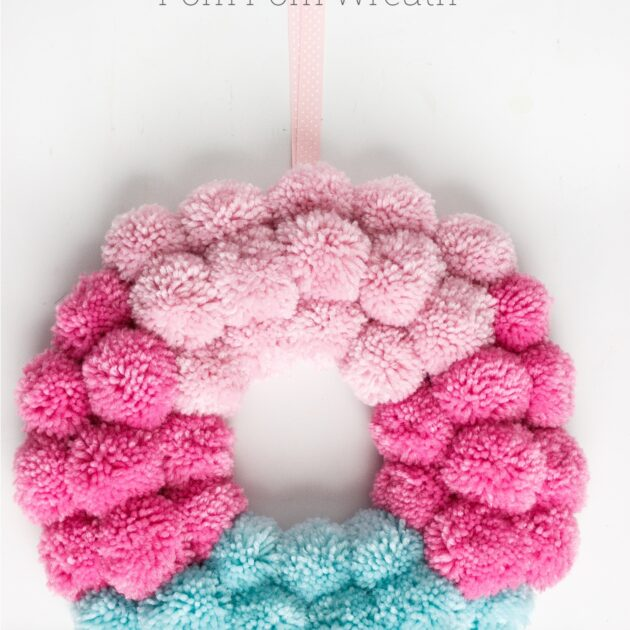 How to Make a Fun Pom Pom Wreath