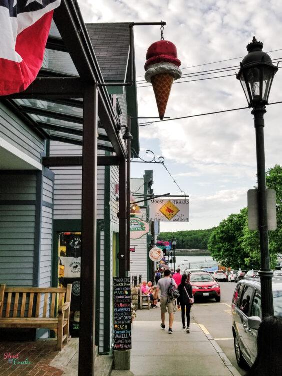 Bar Harbor Maine street view