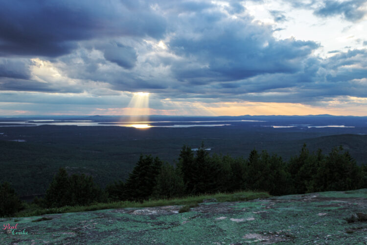 Sunset view from Cadillac Mountain at Acadia National Park