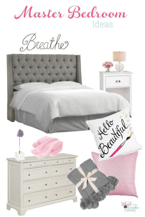 Simple DIY master bedroom Ideas to create a relaxing and cozy room. Ideas for master bedroom decor and how to create a mood board with tips for your space.