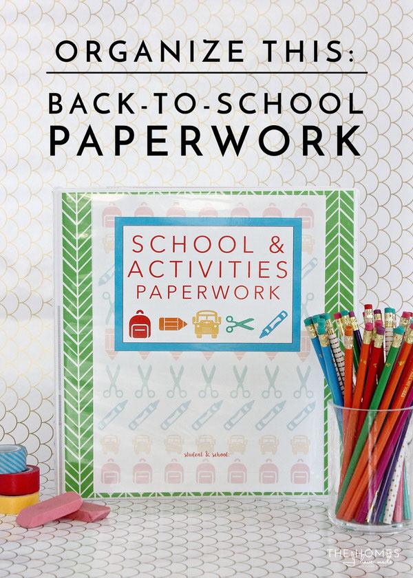 picture of binder with wording school and activities paperwork