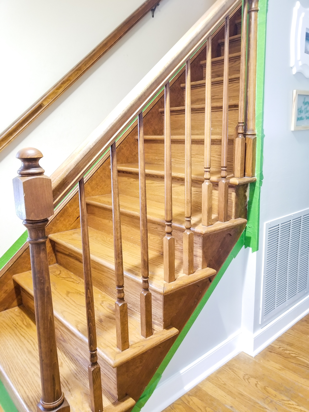side view of stairs with no carpet
