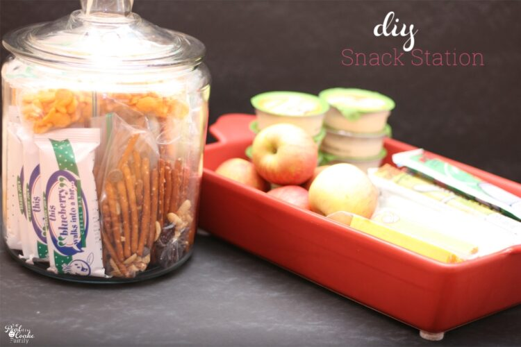 snacks in a glass jar and baking tray