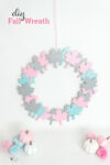 Pink, Blue and Gray Fall Wreath