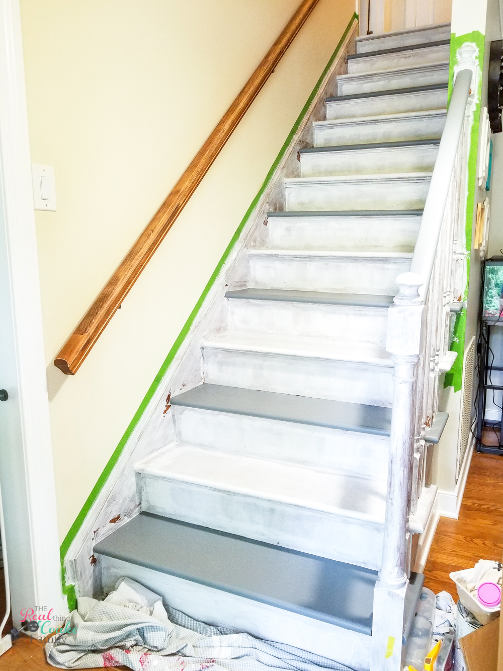 every other stair tread painted