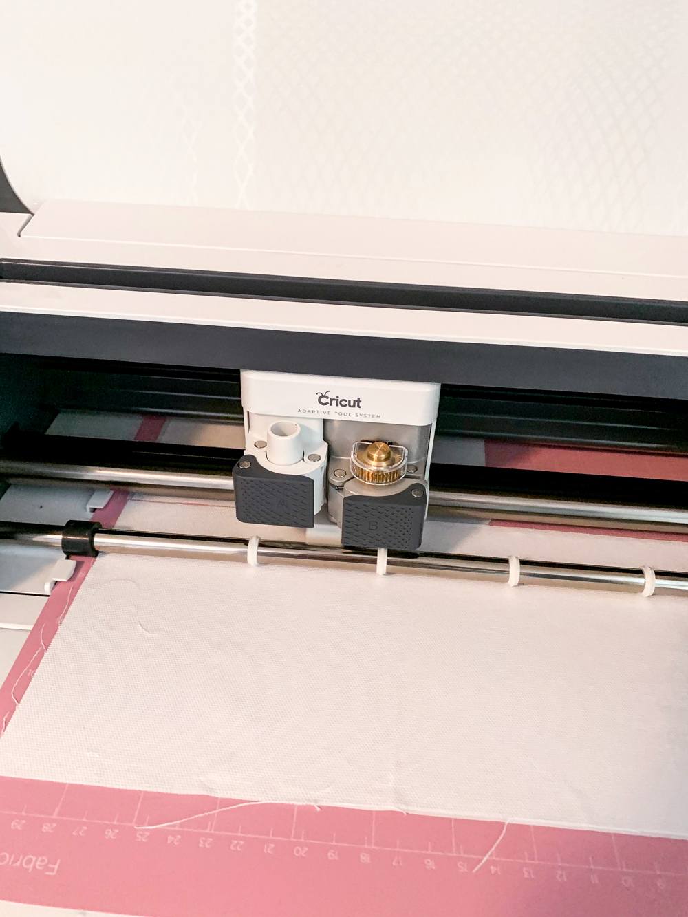 cutting fabric with Cricut machine