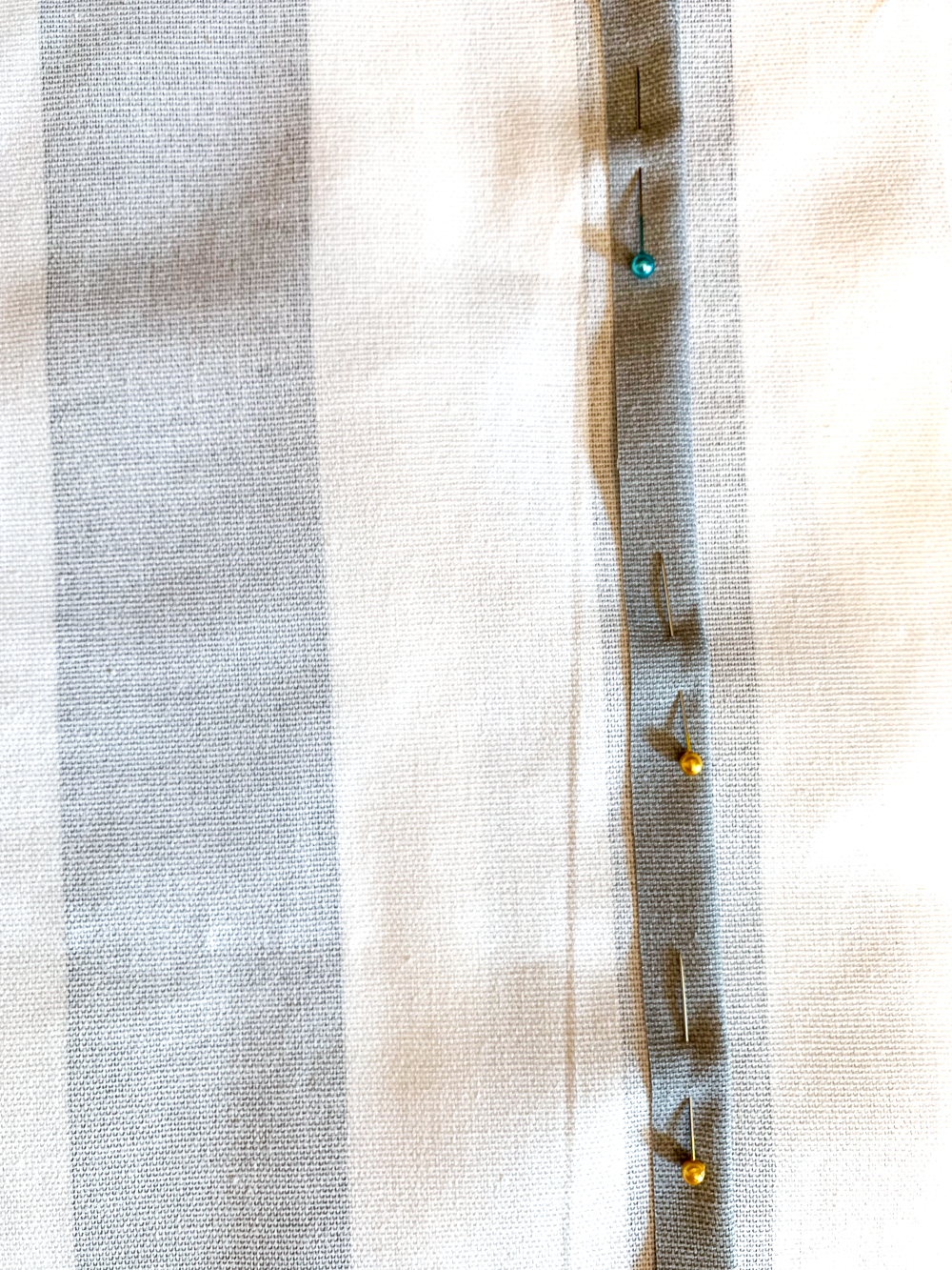 pins in fabric for 1/2