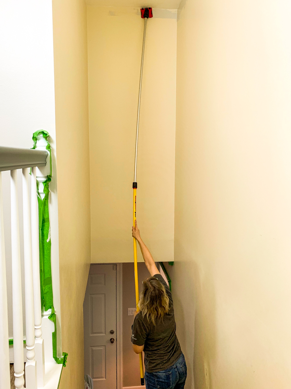 cutting in when painting high walls
