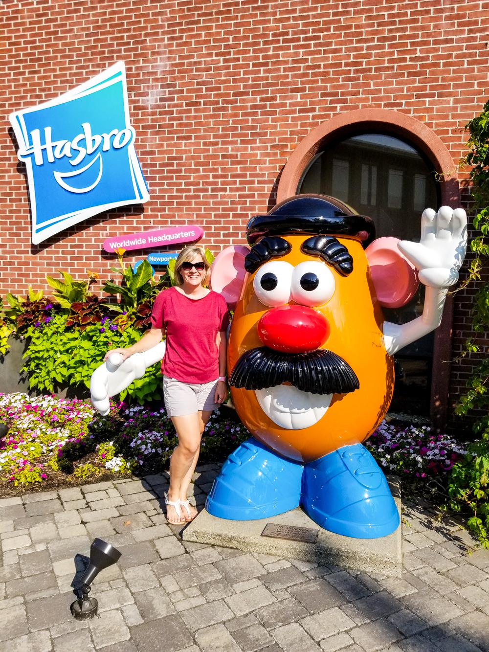 mom with Mr. Potato Head