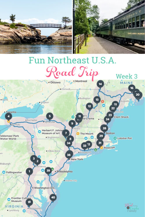 map of northeast road trip