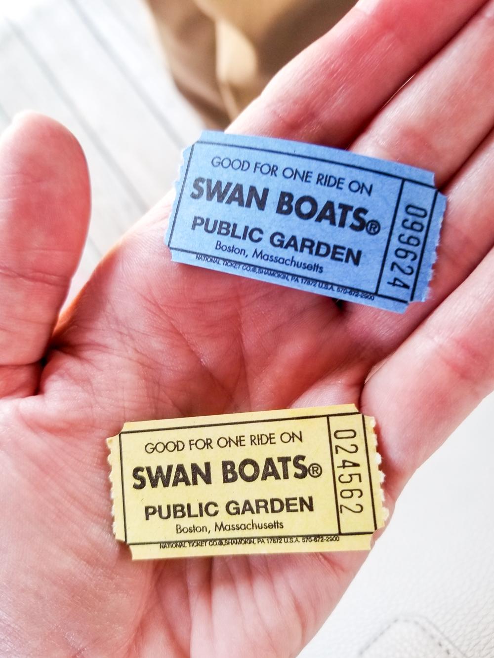 tickets to ride swan boats in Boston Public Garden