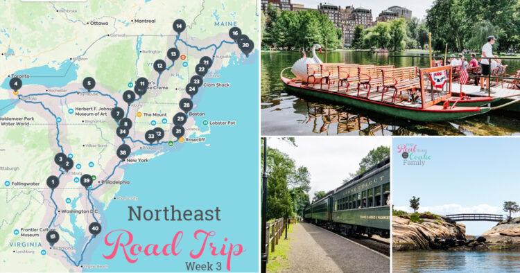 collage of northeast family road trip
