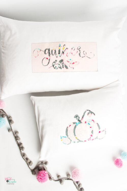 2 diy thanksgiving throw pillows