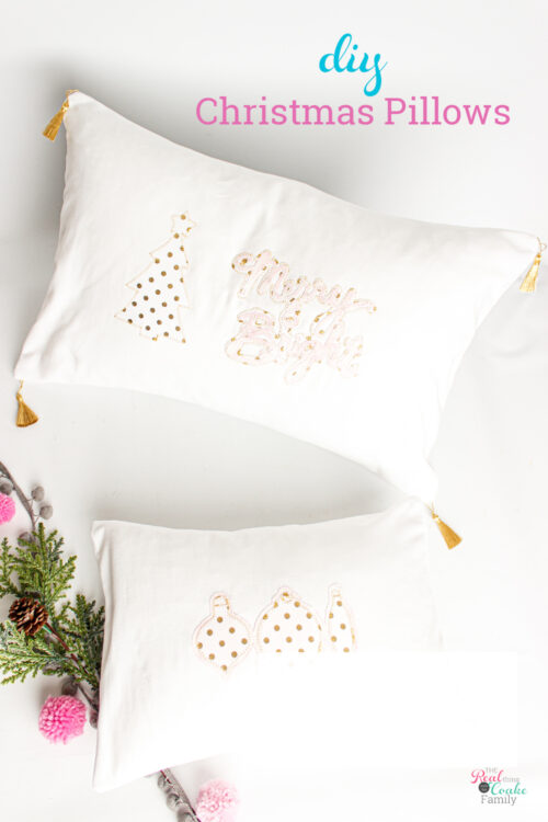 2 diy Christmas pillows