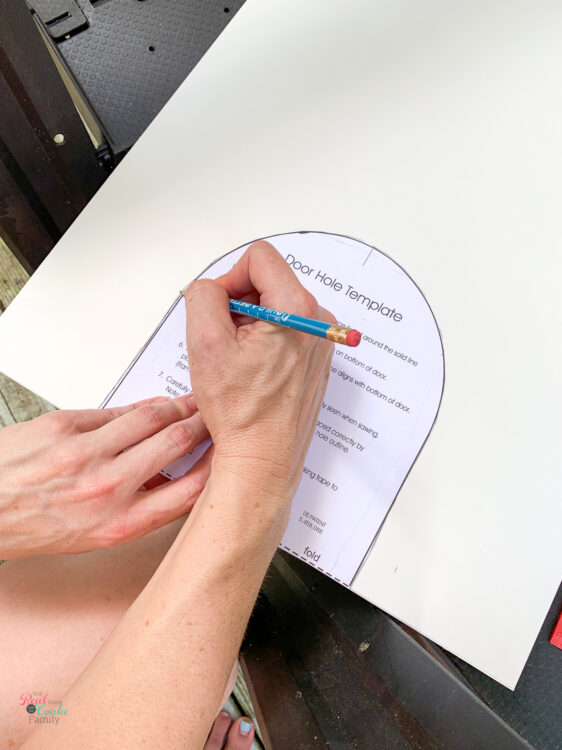 tracing template on Besta side panel