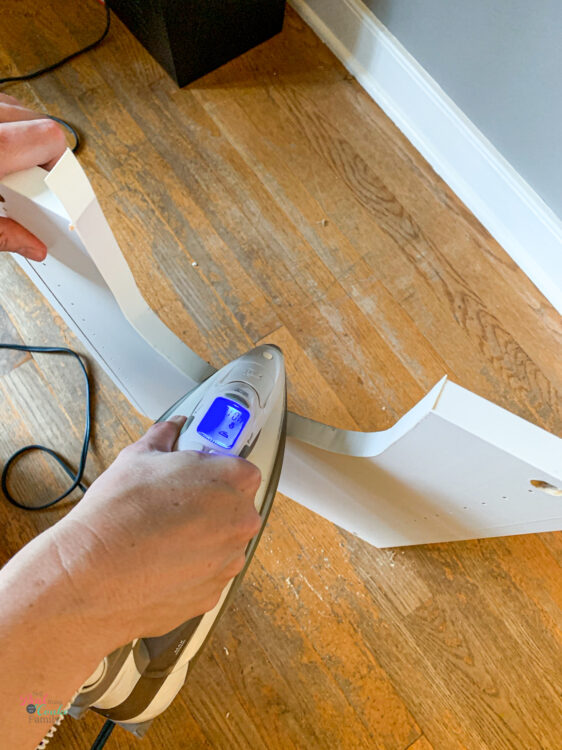 ironing veneer edging to Besta cabinet