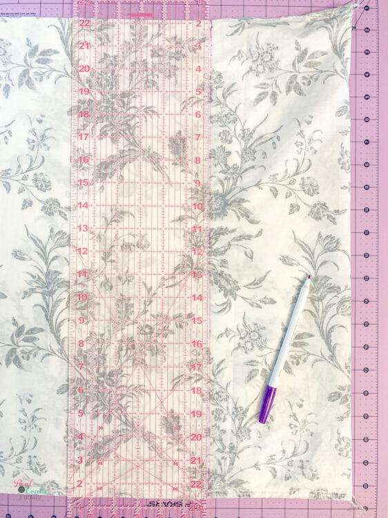 making line to sew to shorten pillowcase