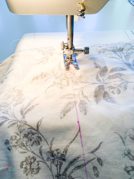sewing on disappearing ink line